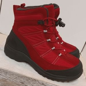 Land's End Red Boots Size 6